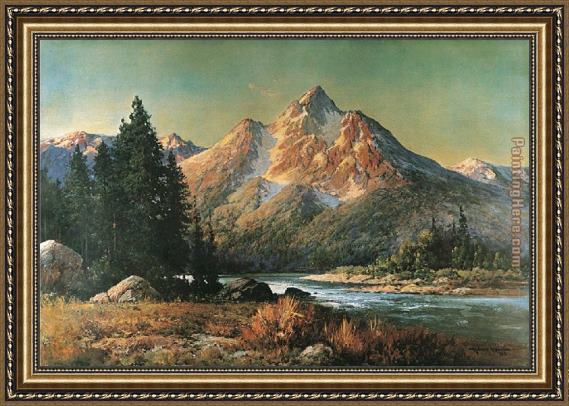 Robert Wood Evening in the Tetons Framed Painting