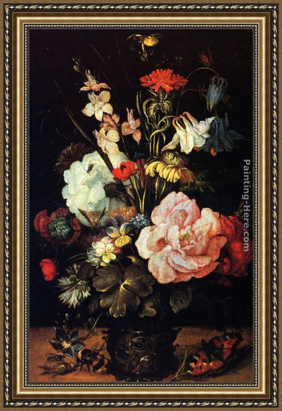 Roelandt Jacobsz Savery Flowers In A Vase Framed Painting