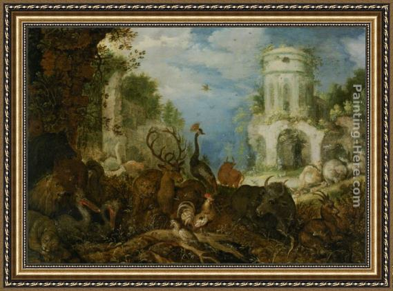 Roelandt Jacobsz Savery Orpheus and the Women of Thrace Framed Painting