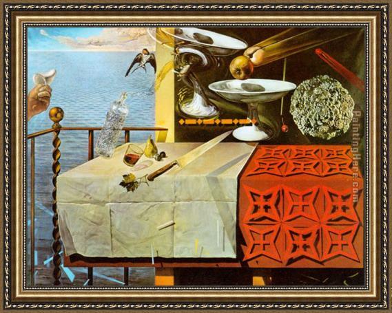 Salvador Dali Living Still Life Framed Painting For Sale