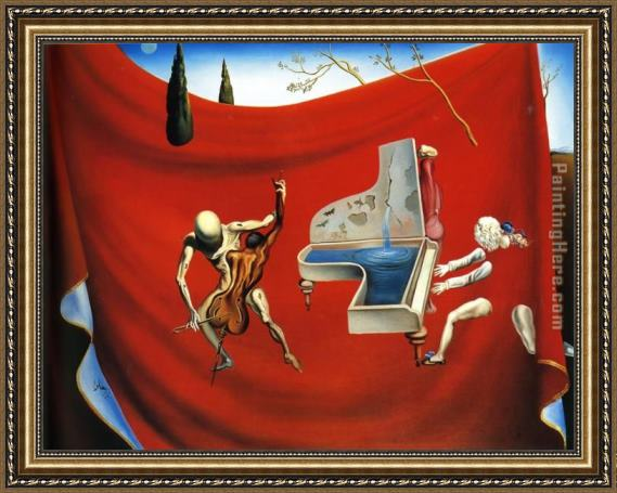 Salvador Dali Music The Red Orchestra The Seven Arts Framed Painting