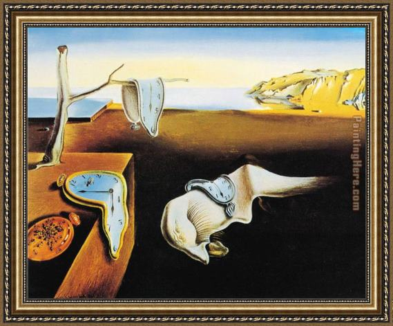 Salvador Dali The Persistence of Memory Framed Painting for sale ...