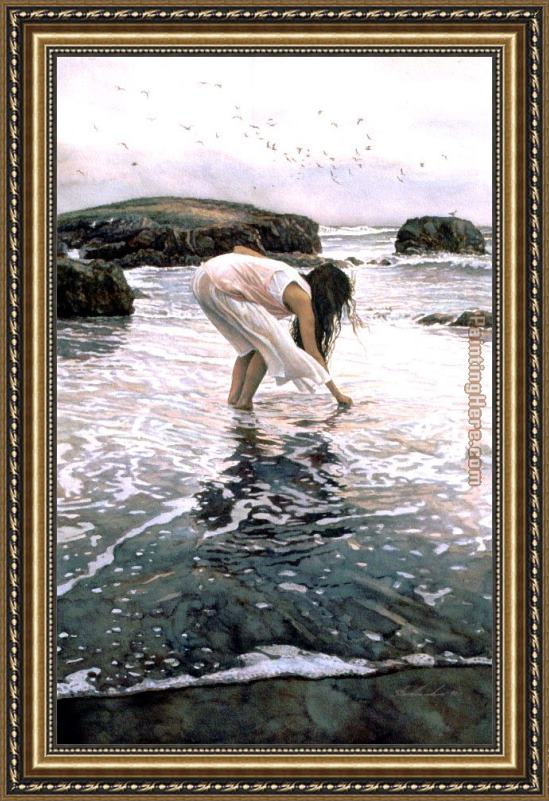 Steve Hanks Conferring with the Sea Framed Painting