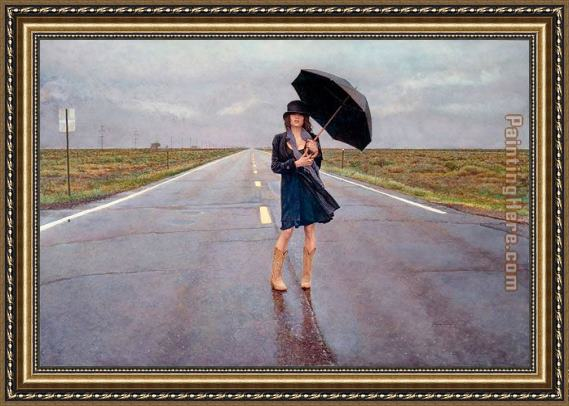 Steve Hanks The Road Less Traveled Framed Painting
