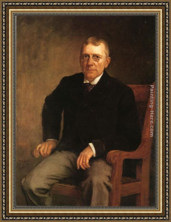 Theodore Clement Steele Portrait of James Whitcomb Riley Framed Painting