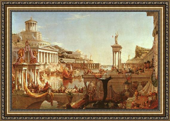 Thomas Cole The Course of the Empire The Consummation Framed Painting