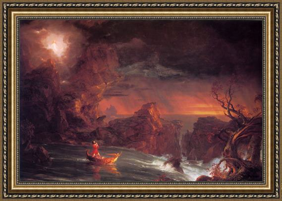 Thomas Cole The Voyage of Life Manhood Framed Painting