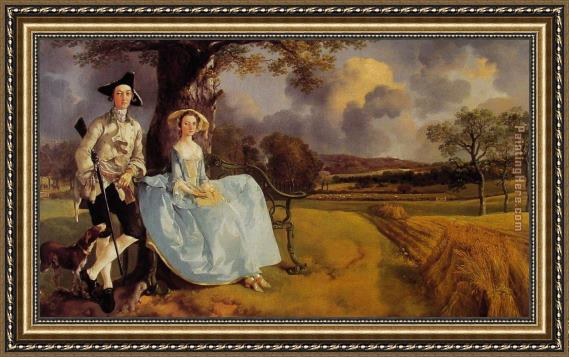 thomas gainsborough mr and mrs andrews framed painting for. Black Bedroom Furniture Sets. Home Design Ideas