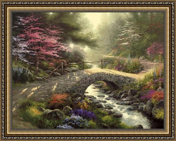 Frame Thomas Kinkade Bridge Of Faith Framed Painting For