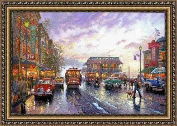 Thomas Kinkade City by the Bay Framed Painting
