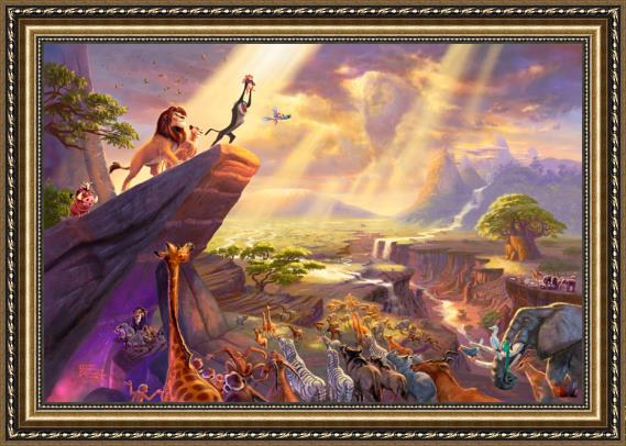 Thomas Kinkade Disney Dreams Collection VII The Lion King Framed Painting