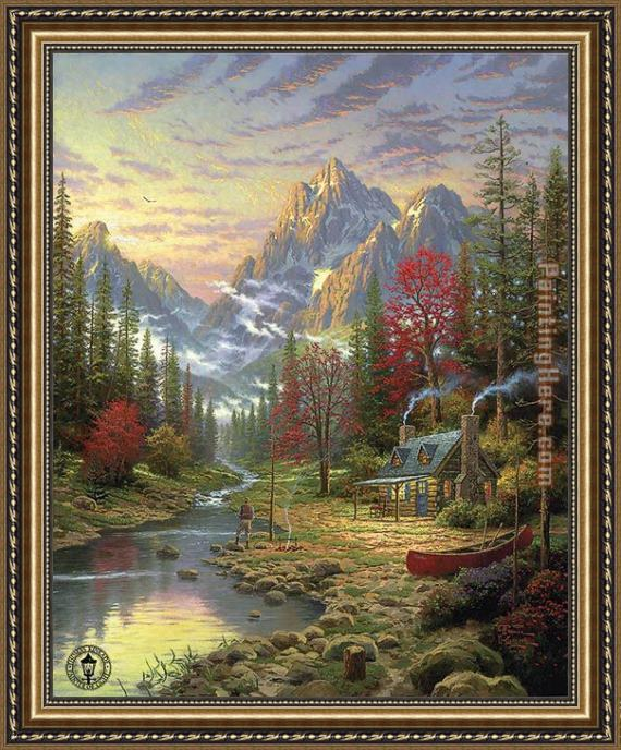 Thomas Kinkade The Good Life Framed Painting