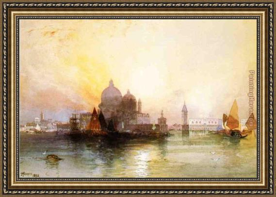 Thomas Moran A View of Venice Framed Painting