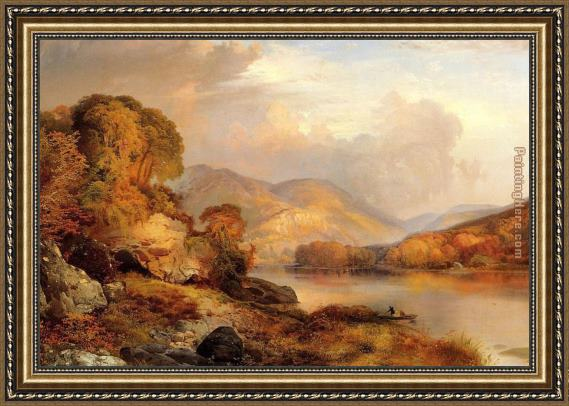 Thomas Moran Autumn Landscape Framed Painting