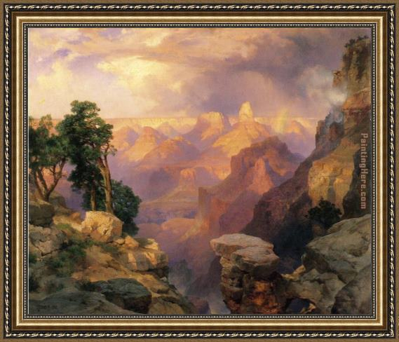 Thomas Moran Grand Canyon with Rainbows Framed Painting