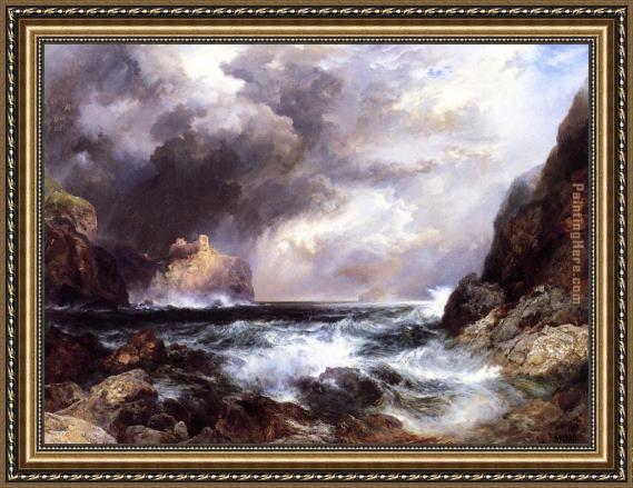 thomas moran tantallon castle north berwick scotland framed painting