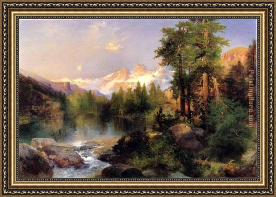Thomas Moran The Three Tetons Framed Painting