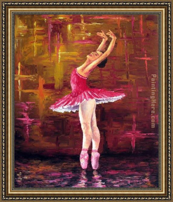Unknown Artist Ballerina Framed Painting