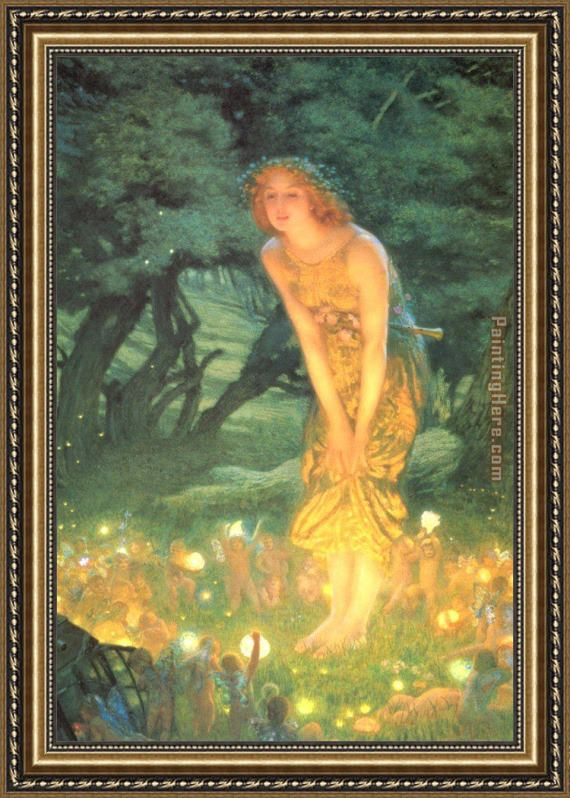 Unknown Artist Midsummer eve by Edward Robert Hughes Framed Painting