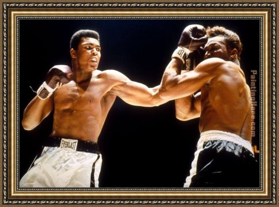 Unknown Artist Muhammad Ali Boxing Fights Framed Painting