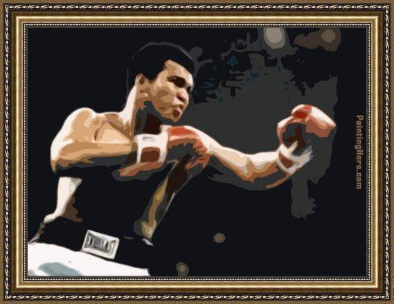 Unknown Artist Muhammad Ali pop art Framed Painting for sale ...