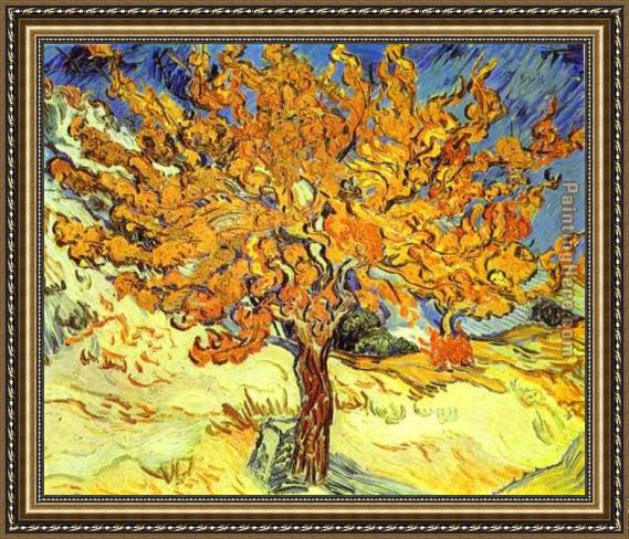 Vincent van Gogh Mulberry Tree Framed Painting