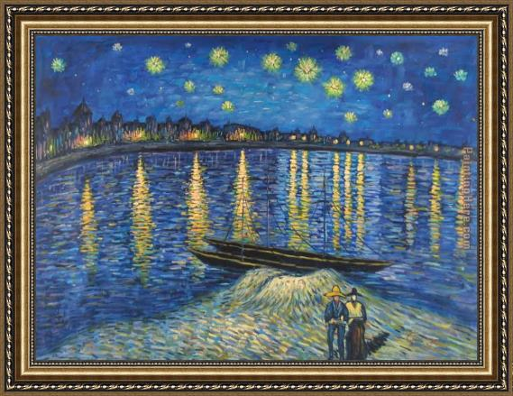 Vincent van Gogh Starry Night Over the Rhone 2 Framed Painting