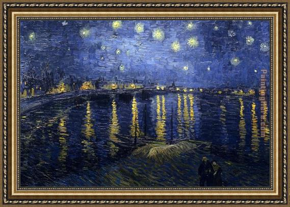 Vincent van Gogh Starry Night over the Rhone Framed Painting