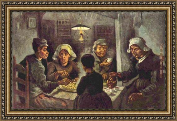 Vincent van Gogh The potato eaters Framed Painting