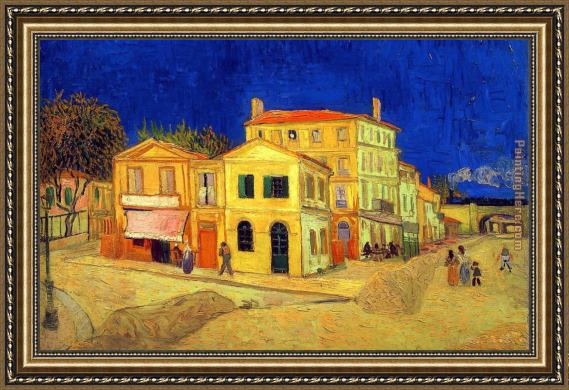 Vincent van Gogh The Yellow House Framed Painting
