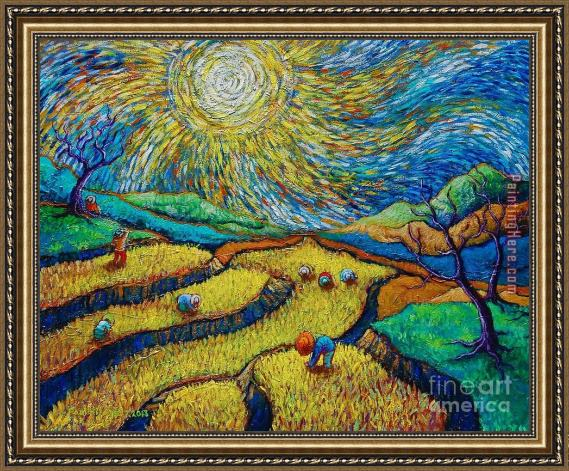 Vincent van Gogh Toil Today Dream Tonight Framed Painting