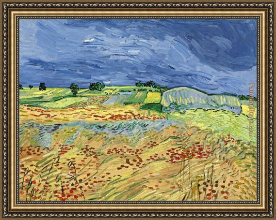 Vincent van Gogh Wheat Fields Framed Painting