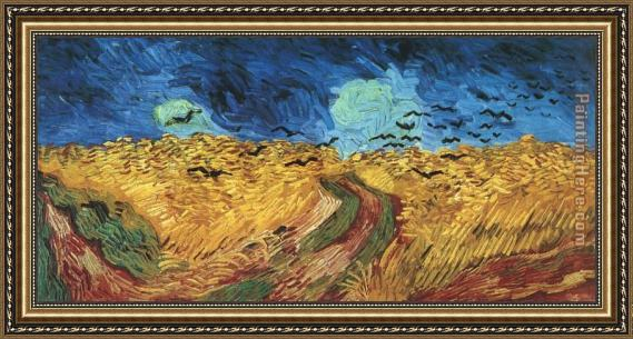Vincent van Gogh Wheatfield with Crows Framed Painting