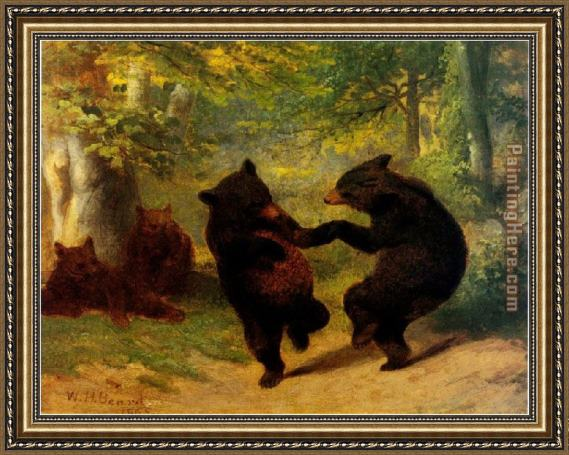 William Beard Dancing Bears Framed Painting for sale - PaintingHere.com