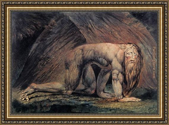 William Blake Nebuchadnezzar Framed Painting