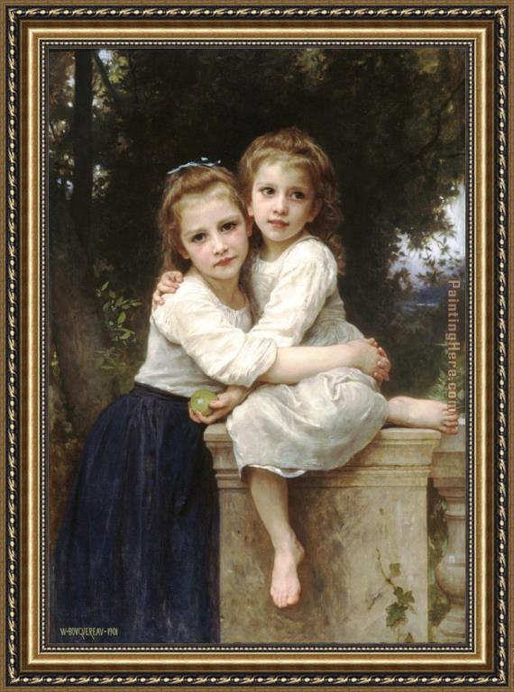 William Bouguereau Two Sisters Framed Painting