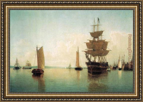 William Bradford East River Off Lower Manhattan Framed Painting