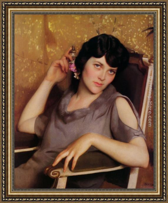 William McGregor Paxton Pretty Girl Framed Painting