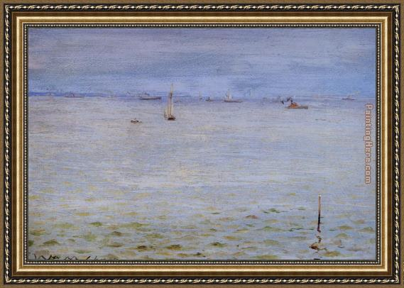 William Merritt Chase Seascape Framed Painting