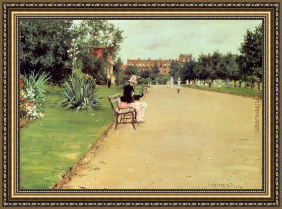 William Merritt Chase The Park Framed Painting