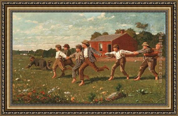 Winslow Homer Snap the Whip Framed Painting