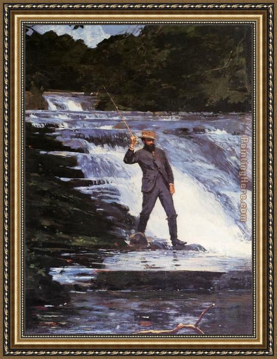 Winslow Homer Winslow The Angler Framed Painting