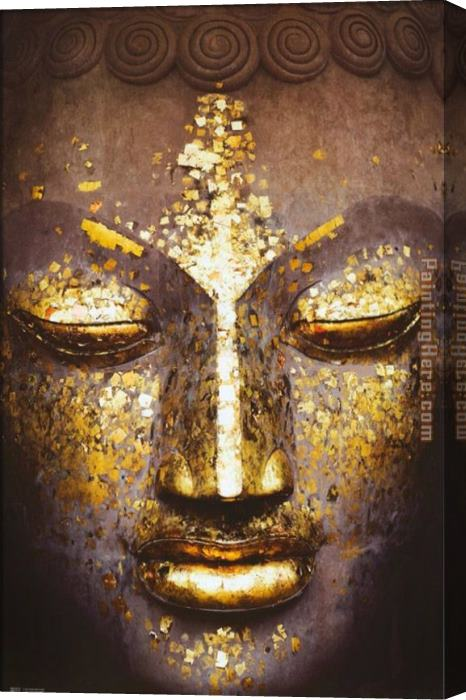 2010 Buddha Stretched Canvas Painting