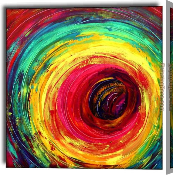 2010 colorful dance circle Stretched Canvas Painting