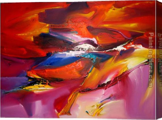 2010 Sea Dream in Red VII Khun Suthirak Stretched Canvas Painting
