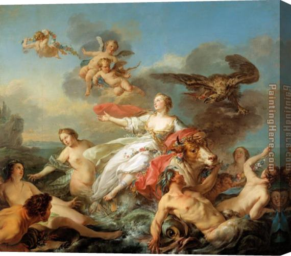 2011 The abduction of Europa by Jean Baptiste Marie Pierre Stretched Canvas Painting
