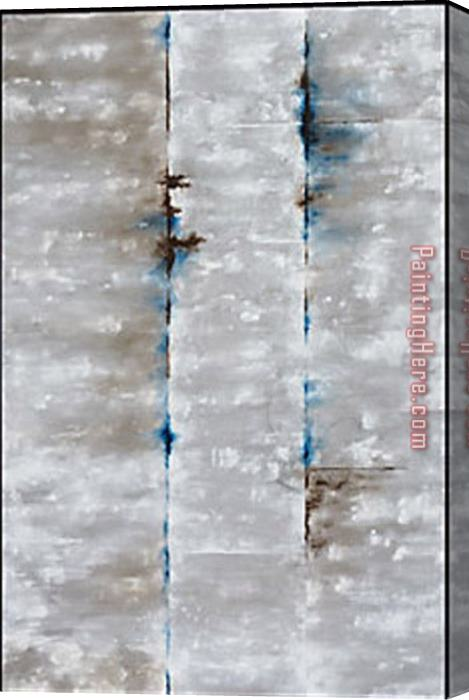 2017 new Grey And Sapphire, Concrete Enclosur Stretched Canvas Painting