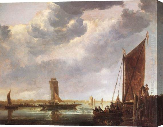 Aelbert Cuyp The Ferry Boat Stretched Canvas Painting