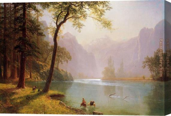 Albert Bierstadt Kerns River Valley California Stretched Canvas Painting