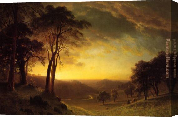 Albert Bierstadt Sacramento River Valley Stretched Canvas Painting